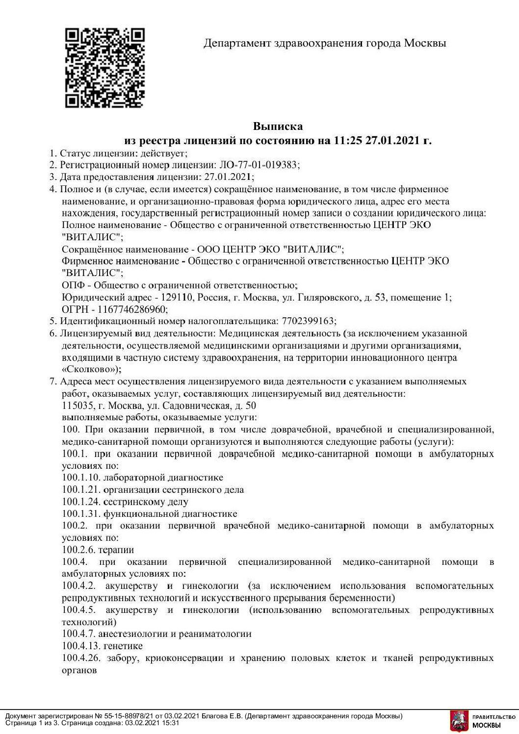 Vypiska Litsenzii 27.01.2021 Pdf